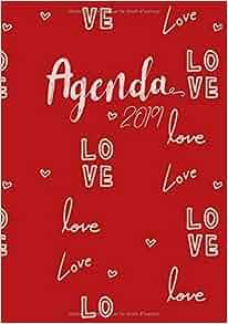 Agenda 2019 Love: Lagenda-calendrier rouge avec citations ...