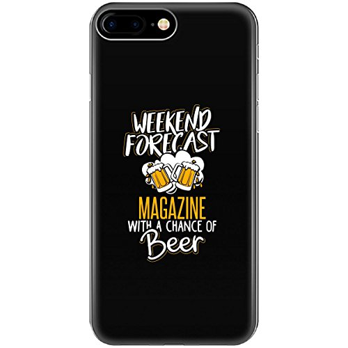 Gift For Magazine Beer Lovers Weekend Forecast Present - Phone Case Fits Iphone 6 6s 7 8 -