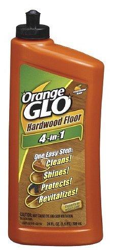 Orange Glo Hardwood Floor 4-in-1 One Easy Step Cleaner, Fresh Orange Scent 24 fl oz (710 ml),3pk