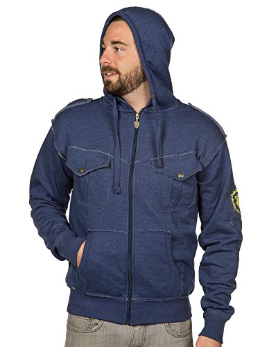 JINX World of Warcraft Men's Champion of The Alliance Premium Zip-up Hoodie