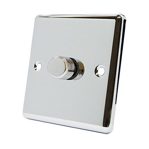 A5 DIM1GCCP4 400 W 10 A 1 Gang 2 Way Classic Chrome Polished Light Dimmer Switch by A5 (Dimmer Switch Chrome)