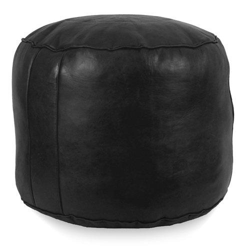 Ikram Design Tabouret Fez Pouf, Black, 18-Inch by 15-Inch by IKRAM DESIGN
