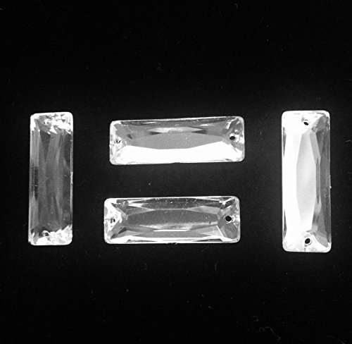 RESIN STONE CRYSTAL RECTANGLE SHAPE FLAT BACK SEW ON OR GLUE ON SELLING PER BAG/216 PCS by TOP TRIMMING