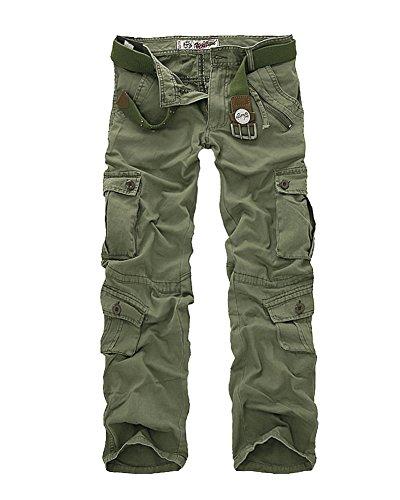 Pantaloni Cargo Con Verde Stile Da Lunghi Gladiolus Uomo Militare Tasca Laterali Esercito Erba tshQdr