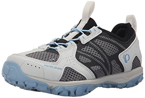 Pearl Izumi Women's W X-ALP Drift IV Cycling Shoe, Black/Dusk Blue, 40 EU/8.3 B US
