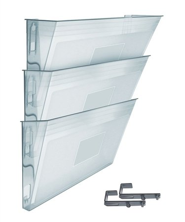 Acrimet Wall-mounted Modular File Holder (3 Pack) (Crystal Color) 868.6