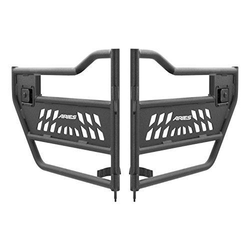 ARIES 25009 Jeep Textured Black Aluminum Rear Tube Doors