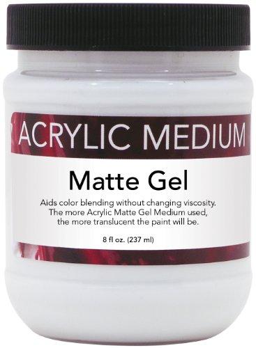 - Art Advantage 8-Ounce Acrylic Matte Gel, Medium