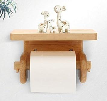 MKFG Productos de baño, Estante de baño de Cocina de Madera Maciza Creativa Simple,