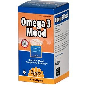 Country Life Omega 3 Mood, 1000 mg d'EPA / portion, 90 gélules