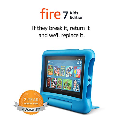 Fire 7 Kids tablet | for ages 3-7 | 7″ Display, 16 GB | Blue Kid-Proof Case