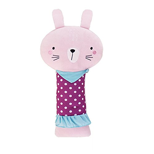 Apomelo Cute Rabbit Car Seat Belt Pillow for Kids,Seat Strap Shoulder Pads, Adjustable Seatbelt Buddy Pillow for Travel,Napping Neck Support Pillow,Lady Rabbit