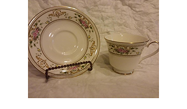 Thomas Till /& Sons 2953 Shanghae CUP Gold Trim Flowers SAUCER and Salad PLATE Antique 3 Piece Set Floral Design