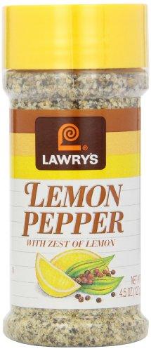 Lawrys Lemon Pepper, 4.5 -Ounce Shakers (Pack of 12)