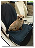NAC&ZAC Deluxe Waterproof Bucket Pet Seat Cover for Cars and SUV with Seat Anchors, Quilted, Nonslip, Entire Seat Protection, Machine Washable Dog Seat Cover,