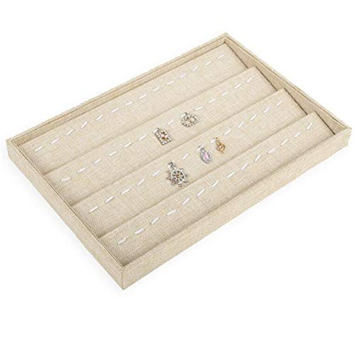 Linen Jewelry Watch Bracelet Display Tray,Necklace Earring Jade Bracelet Container Boxes Storage Case, Jewelry Organizer Display Rack Holder,Pillow Style Watches Box,Loose Bead Hand Catenary Show Case from VAlink