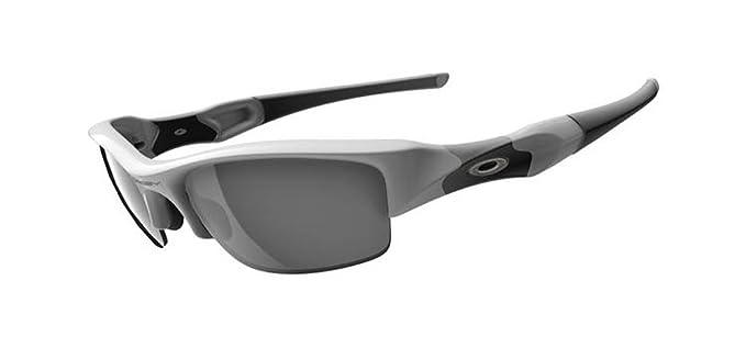Oakley Men s Flak Jacket Iridium Asian Fit Sunglasses,Polished White  Frame Slate Lens, e0ad0f52b372