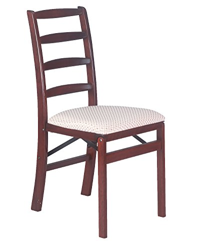 Stakmore Shaker Ladderback Folding Chair Finish, Set of 2, Cherry