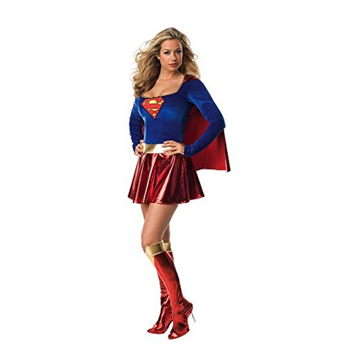 Charming Halloween Sexy Supergirl Adult Costume With (Supergirl Corset Costume)