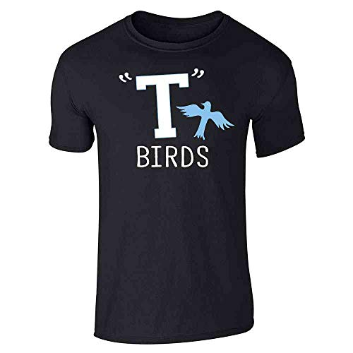 T Birds Gang Logo Costume Retro 50s 60s Black XL Short Sleeve -