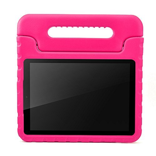 Samsung Galaxy Tab E 9.6 Kids Case-ANMANI Light Weight Kids Friendly Shock Proof Convertible with Handle Stand Case for Samsung Galaxy Tab E / Tab E Nook 9.6-Inch 2015 T560 Tablet Rose