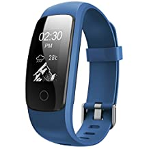 Fitness Tracker with Heart Rate Monitor, Janve Smart Wristband Sleep Tracker Calorie Steps Counter Pedometer Sports Activity Tracker for Android and IOS Smart Phone
