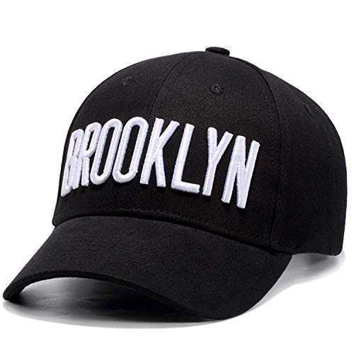 5f14bae14ea Perfashion Unisex Vintage Black Baseball Cap Brooklyn Embroidery Adjustable  Style Headwear Hip-Hop Hats