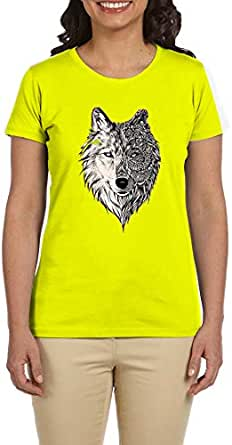 PTB W-NK050 Yellow T-Shirts Printed Short Sleeve For Women
