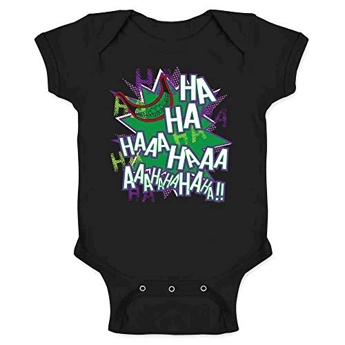 Maniacal Villain Laugh HA HA HA Black 6M Infant Bodysuit -