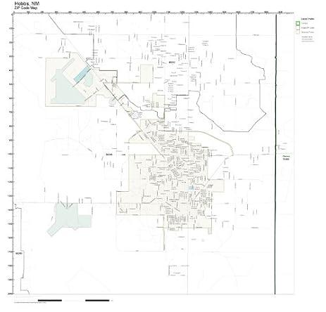 Amazoncom ZIP Code Wall Map of Hobbs NM ZIP Code Map Not