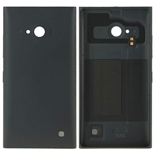 (#6) Solid Color Plastic Battery Replacement Back Cover for Nokia Lumia 730(Black) (Lumia 730 Best Price)