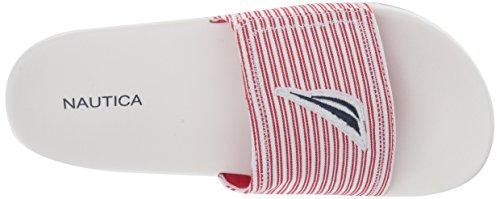 Point Stripe View Women's Slide Nautica Sandal Red 0EB4qxav