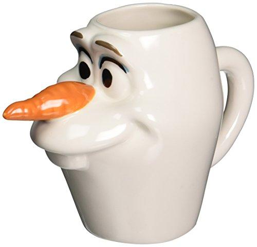 Westland Giftware Disney Frozen Olaf Head Figural Ceramic Mug, 12 oz, Multicolor by Westland Giftware