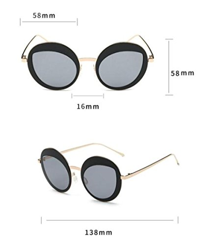 Redondas C5 MSNHMU Gafas Señora Retro De De De De De Viaje Gafas Sol Sol Compras OHrx6OwSFq