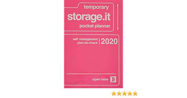 Storage.It Taschenkalender 2019 Neon Pink A6 Mark/'s