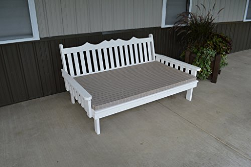 Furniture Barn USA 6 Foot Cedar Indoor or Outdoor Unfinished Royal English Daybed Amish Made ()