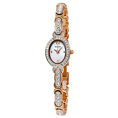 Bulova Women's 98L200 Stainless Steel Swarovski Crystal-Accented Watch
