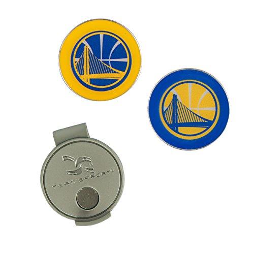 Team Effort NBA Golden State Warriors Hat Clip & 2 Ball Markers by Team Effort