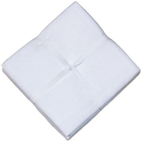 Babycalin Lot de 6 langes 50x70 cm Tissu Blanc BBC370401