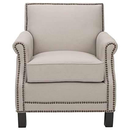 Safavieh Mercer Collection Charles Beige Linen Club Chair