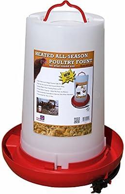"Farm Innovators Model HPF-100 ""All-Seasons"" Heated Plastic Poultry Fountain, 3 Gallon, 100-Watt"