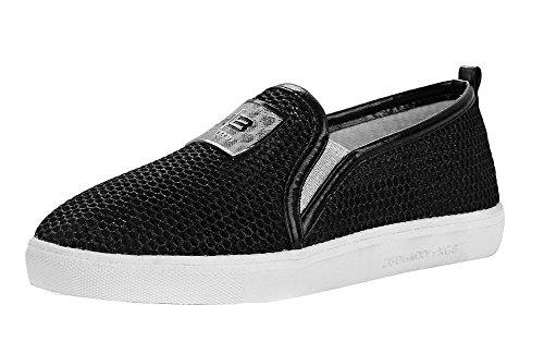Toe Women's VogueZone009 Pumps Materials Shoes Solid Black Round Closed Blend dZwXA7wq