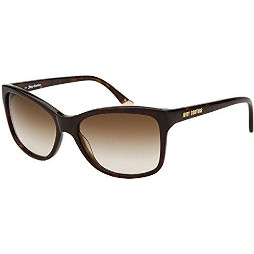 (Juicy Couture Womens 519/S Sunglasses, Dark Havana/Brown Gradient, Size 55/16-135)