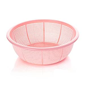 Dripping sieve vegetables basket Wash rice and basket,Pink
