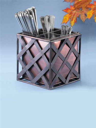 Cal-Mil 343-51 Copper 6″ x 6″ x 6-1/4″ Flatware Holder image