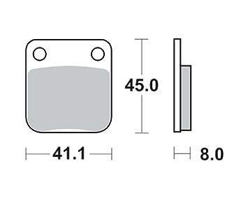 Bremsbel/äge TRW MCB 510 f/ür Kreidler 125 Supermoto 07- hinten