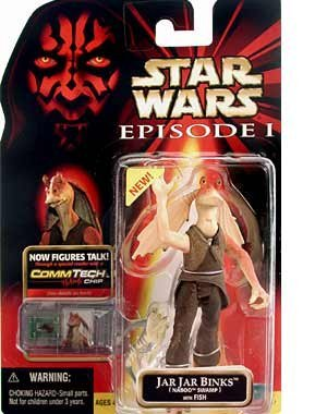 STAR WARS EPISODE I JAR JAR BINKS(Naboo Swamp) with FISH with COMMTECH CHIP