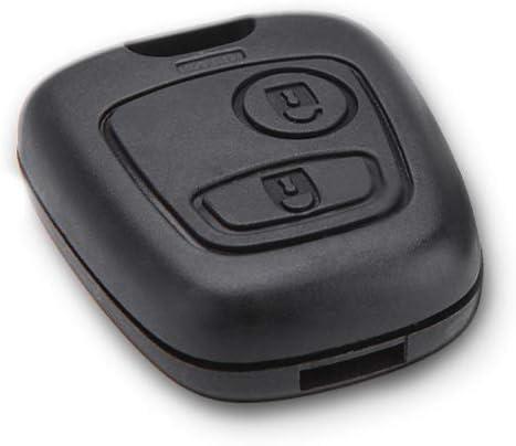 1neiSmartech Coque pour t/él/écommande 2 Boutons de Rechange Compatible avec cl/é de Voiture Toyota Aygo Citro/ën C1 C2 C3 C4 C5 Peugeot 103 107 206 Coque + Cache-Boutons + vis de Rechange