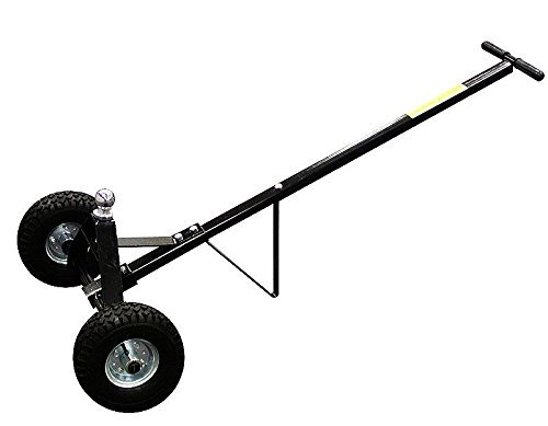 GHP 600Lbs Capacity 1-7/8'' Chrome Hitch Ball Trailer Dolly with Pneumatic Tires by Globe House Products