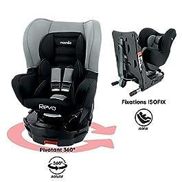 Nania REVO isofix car seat, 360° swivel – group 0/1 (0-18kg) Luxe (GREY)